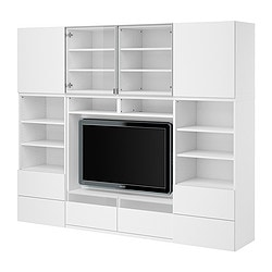 BESTÅ TV/storage combination, white Width: 240 cm Depth: 40 cm Height: 192 cm
