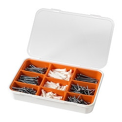 FIXA 260-piece screw and plug set Package quantity: 260 pack