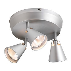 HUSVIK spotlight, aluminium Diameter: 26.5 cm Height: 20 cm