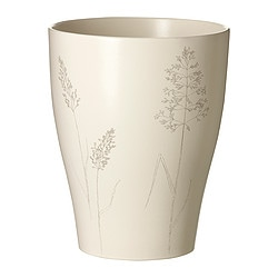 "NÖJD plant pot, patterned beige Outside diameter: 7 ½ "" Max. diameter inner pot: 6 ¾ "" Height: 9 ½ "" Outside diameter: 19 cm Max. diameter inner pot: 17 cm Height: 24 cm"