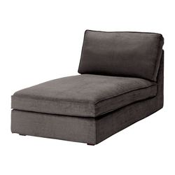 KIVIK cover for chaise longue, Tullinge grey-brown