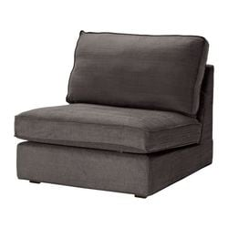 KIVIK one-seat section cover, Tullinge grey-brown