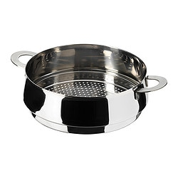 "STABIL steamer insert, stainless steel Diameter: 9 "" Height: 3 "" Volume: 5 qt Diameter: 23 cm Height: 8 cm Volume: 5 l"