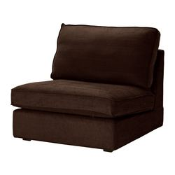KIVIK one-seat section, Tullinge dark brown Width: 90 cm Depth: 95 cm Height: 83 cm
