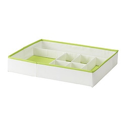 KUSINER box with compartments Width: 51 cm Depth: 42 cm Height: 9 cm