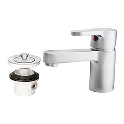 ENSEN wash-basin mixer tap with strainer, matt chrome-plated Height: 12 cm