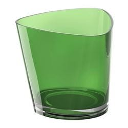 RÖNÅS tealight holder, green Height: 7 cm