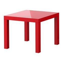 LACK side table, high-gloss red Length: 55 cm Width: 55 cm Height: 45 cm