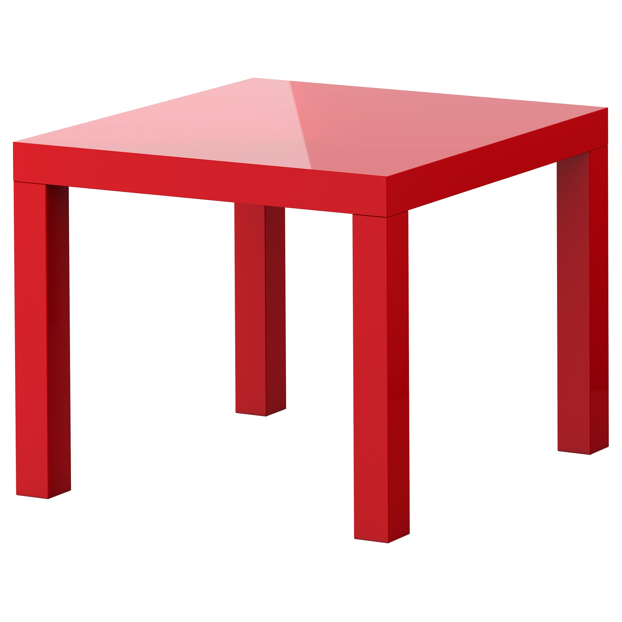 LACK Side table - high gloss red, 21 5/8x21 5/8