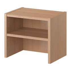 BILLY height extension unit, beech veneer Width: 40 cm Depth: 28 cm Height: 35 cm