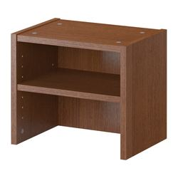 "BILLY height extension unit, medium brown Width: 15 3/4 "" Depth: 11 "" Height: 13 3/4 "" Width: 40 cm Depth: 28 cm Height: 35 cm"