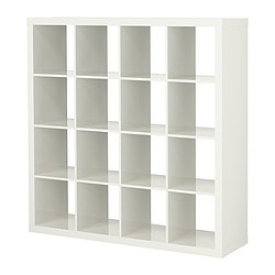 EXPEDIT shelving unit, high-gloss white Width: 149 cm Depth: 39 cm Height: 149 cm