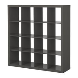 EXPEDIT shelving unit, high-gloss grey Width: 149 cm Depth: 39 cm Height: 149 cm