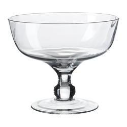 GOTTIS serving bowl, clear glass Diameter: 18 cm Height: 15 cm
