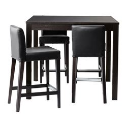 BJURSTA/ HENRIKSDAL table de bar+4 tabourets, Robust noir, brun noir