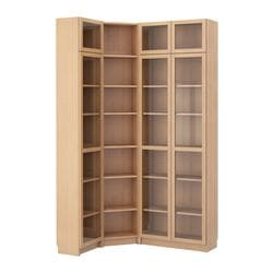 BILLY bookcase combination/crnr solution, beech veneer