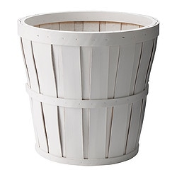 "KALASA plant pot, white Outside diameter: 10 ¾ "" Max. diameter inner pot: 9 ½ "" Height: 10 ¼ "" Outside diameter: 27 cm Max. diameter inner pot: 24 cm Height: 26 cm"