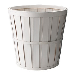 "KALASA plant pot, white Outside diameter: 14 ¼ "" Max. diameter inner pot: 12 ½ "" Height: 13 ½ "" Outside diameter: 36 cm Max. diameter inner pot: 32 cm Height: 34 cm"