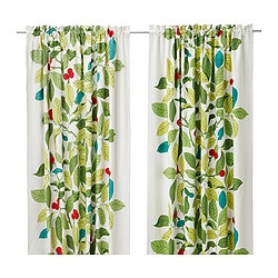 IKEA STOCKHOLM BLAD curtains, 1 pair, green Length: 250 cm Width: 145 cm Weight: 2.80 kg