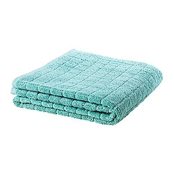 "ÅFJÄRDEN bath sheet, green-blue Length: 59 "" Width: 39 "" Surface density: 1.97 oz/sq ft Length: 150 cm Width: 100 cm Surface density: 600 g/m²"