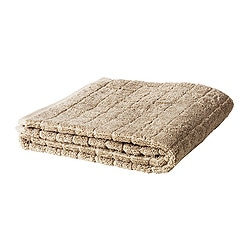 "ÅFJÄRDEN bath towel, dark beige Length: 55 "" Width: 28 "" Surface density: 1.97 oz/sq ft Length: 140 cm Width: 70 cm Surface density: 600 g/m²"