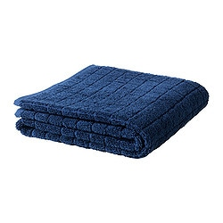 ÅFJÄRDEN hand towel, dark blue Length: 100 cm Width: 50 cm Surface density: 600 g/m²