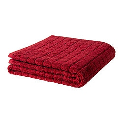"ÅFJÄRDEN bath towel, dark red Length: 55 "" Width: 28 "" Surface density: 1.97 oz/sq ft Length: 140 cm Width: 70 cm Surface density: 600 g/m²"