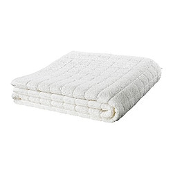 ÅFJÄRDEN bath sheet, white Length: 150 cm Width: 100 cm Surface density: 600 g/m²