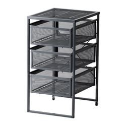 "LENNART drawer unit, dark gray Width: 11 3/4 "" Depth: 13 3/8 "" Depth of drawer: 13 "" Width: 30 cm Depth: 34 cm Depth of drawer: 33 cm"