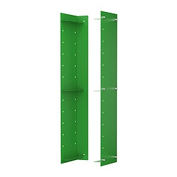 "EKBY OXIE wall side unit, green Depth: 5 7/8 "" Height: 23 1/4 "" Package quantity: 2 pack Depth: 15 cm Height: 59 cm Package quantity: 2 pack"