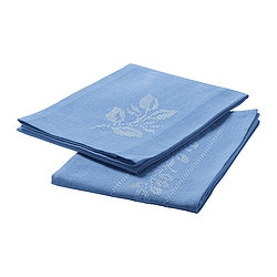VÅRLIGT tea towel, light blue Length: 70 cm Width: 50 cm Package quantity: 2 pack
