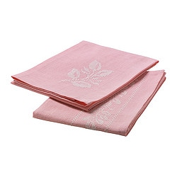 VÅRLIGT tea towel, light pink Length: 70 cm Width: 50 cm Package quantity: 2 pieces