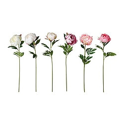 "SMYCKA artificial flower, Peony assorted colors Height: 26 "" Height: 66 cm"
