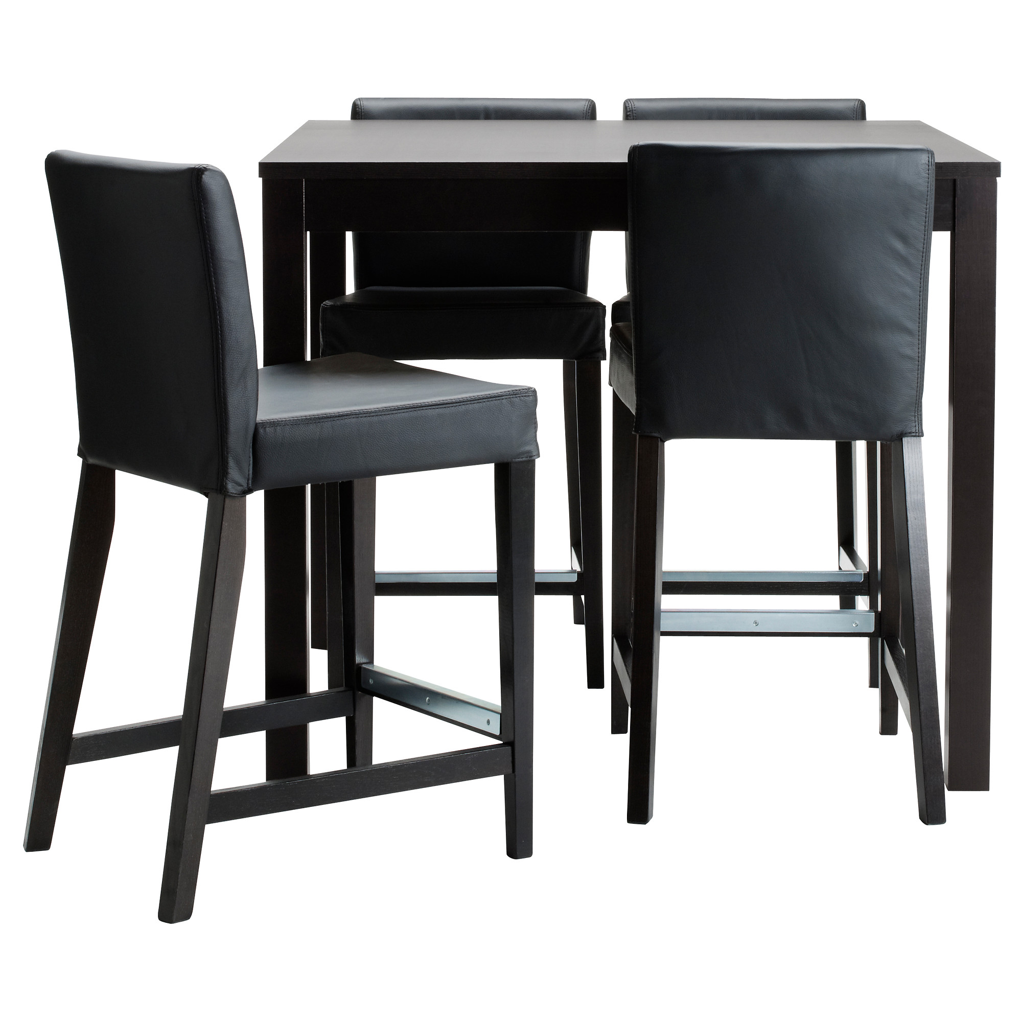 bjursta  henriksdal bar table and  bar stools  ikea -