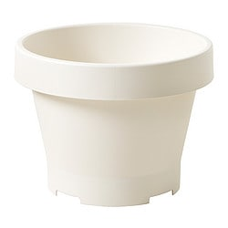 GRÄVA plant pot, white Outside diameter: 48 cm Height: 35 cm Inside diameter: 42 cm