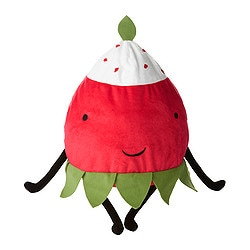 "TORVA soft toy, red, wild strawberry Length: 11 ¾ "" Length: 30 cm"