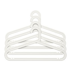 BAGIS hanger, in/outdoor, white Width: 42 cm Height: 23 cm Package quantity: 4 pack