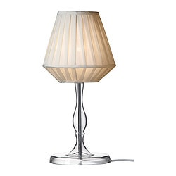 MARBY table lamp, clear glass Height: 50 cm Shade diameter: 24 cm Cord length: 2.0 m