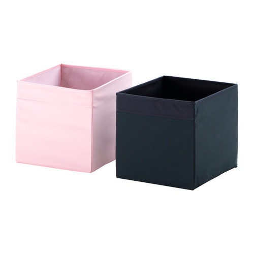 ikea drona expedit bookcase storage box pink ebay. Black Bedroom Furniture Sets. Home Design Ideas