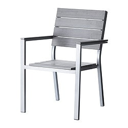 FALSTER chair with armrests, grey Width: 59 cm Depth: 61 cm Height: 86 cm