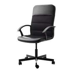 "FINGAL swivel chair, black Tested for: 242 lb 8 oz Width: 23 1/4 "" Depth: 25 5/8 "" Tested for: 110 kg Width: 59 cm Depth: 65 cm"