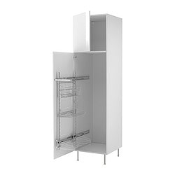 "AKURUM high cab/pull-out interior fittings, Abstrakt white, birch Width: 23 7/8 "" Depth: 24 1/8 "" Height: 88 1/4 "" Width: 60.8 cm Depth: 61.2 cm Height: 224.3 cm"
