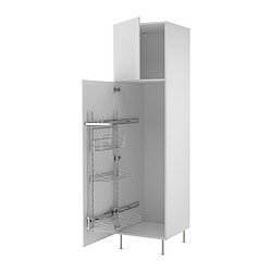 "AKURUM high cab/pull-out interior fittings, Applåd white, birch Width: 23 7/8 "" Depth: 24 1/8 "" Height: 88 1/4 "" Width: 60.8 cm Depth: 61.2 cm Height: 224.3 cm"