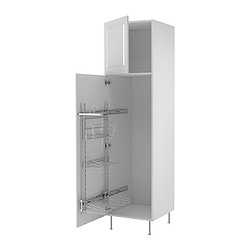 "AKURUM high cab/pull-out interior fittings, Lidingö white, white Width: 23 7/8 "" Depth: 24 1/8 "" Height: 88 1/4 "" Width: 60.8 cm Depth: 61.2 cm Height: 224.3 cm"