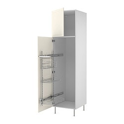 "AKURUM high cab/pull-out interior fittings, Ståt white, white Width: 23 7/8 "" Depth: 24 1/8 "" Height: 88 1/4 "" Width: 60.8 cm Depth: 61.2 cm Height: 224.3 cm"