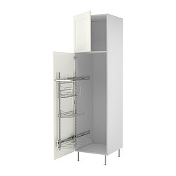 "AKURUM high cab/pull-out interior fittings, Ädel white, birch Width: 23 7/8 "" Depth: 24 1/8 "" Height: 88 1/4 "" Width: 60.8 cm Depth: 61.2 cm Height: 224.3 cm"