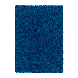 "HAMPEN rug, high pile, bright blue Length: 7 ' 7 "" Width: 5 ' 3 "" Surface density: 7 oz/sq ft Length: 230 cm Width: 160 cm Surface density: 2050 g/m²"