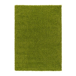 "HAMPEN rug, high pile, bright green Length: 6 ' 5 "" Width: 4 ' 4 "" Surface density: 7 oz/sq ft Length: 195 cm Width: 133 cm Surface density: 2050 g/m²"