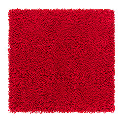 HAMPEN rug, high pile, red Length: 80 cm Width: 80 cm Surface density: 2050 g/m²