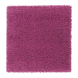 HAMPEN rug, high pile, dark pink Length: 80 cm Width: 80 cm Surface density: 2050 g/m²